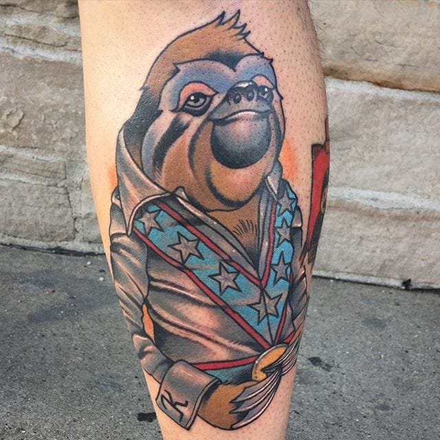 10 Cute and Charismatic Sloth Tattoos