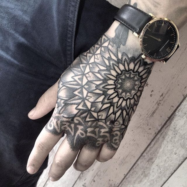 Decorative Geometric Tattoos by Kamila Daisy