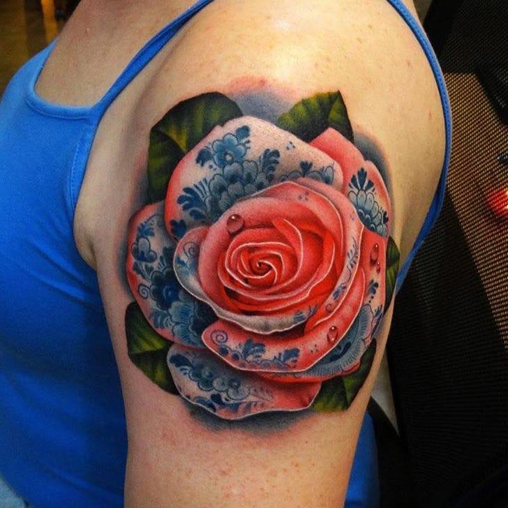 12 Exquisite Delft Blue Tattoos
