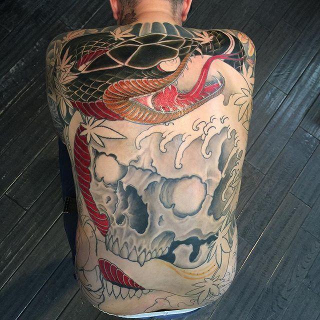 Work In Progress Skull & Snake Backpiece