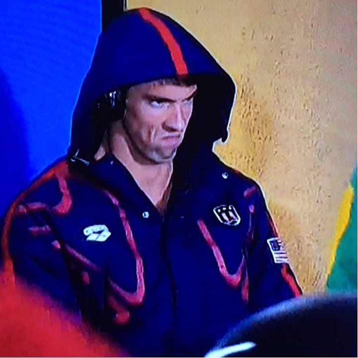 The Ridiculous Michael Phelps Death Stare at RIO Inspires a Tattoo