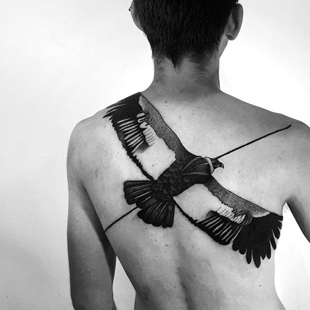 Linear Blackwork Nature Tattoos by Daniel Matsumoto