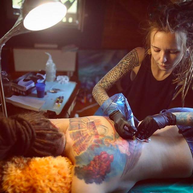 Painterly Colorful Tattoos by Nika Samarina