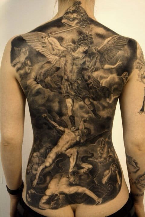 Archangel Michael Tattoos: 8 Powerful & Protective Archangel Michael Tattoos