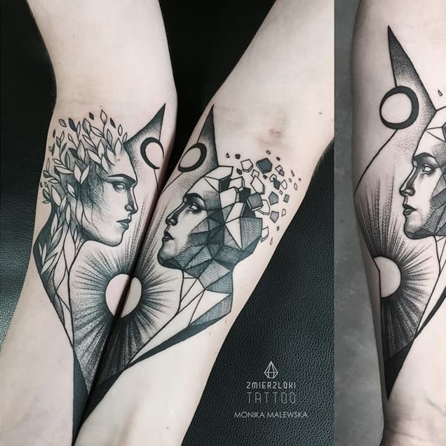 Creative Monochrome Tattoos by Monika Malewska