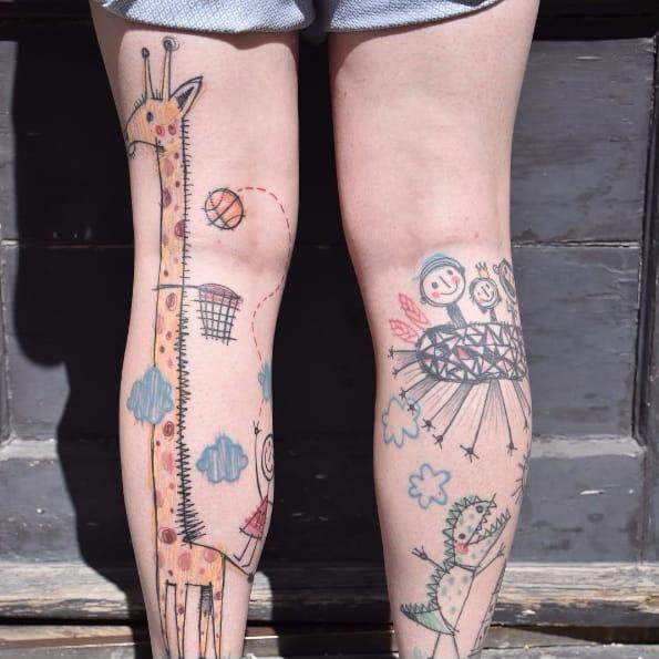 The Innocent Graphic Tattoos Of Miriam Frank