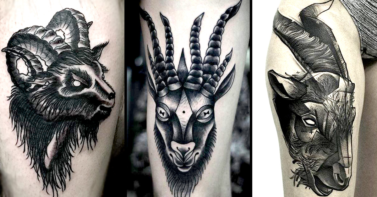 Evil goat tattoo - photo#13