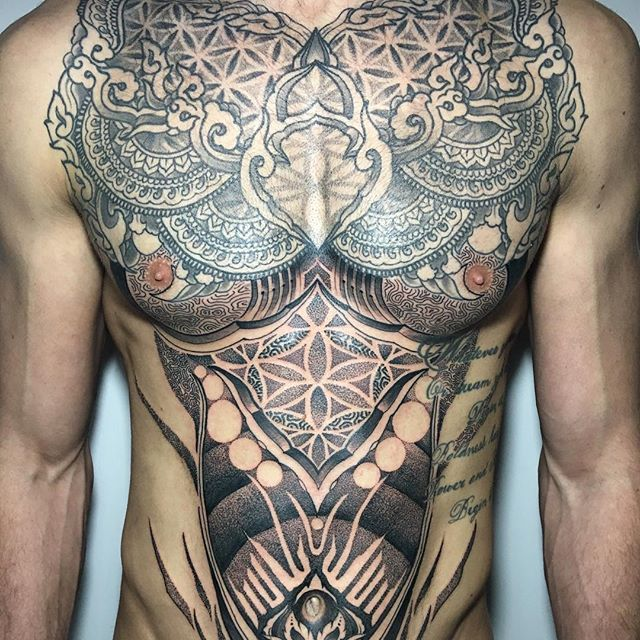 Intricate Pattern Tattoos by Raph Cemo