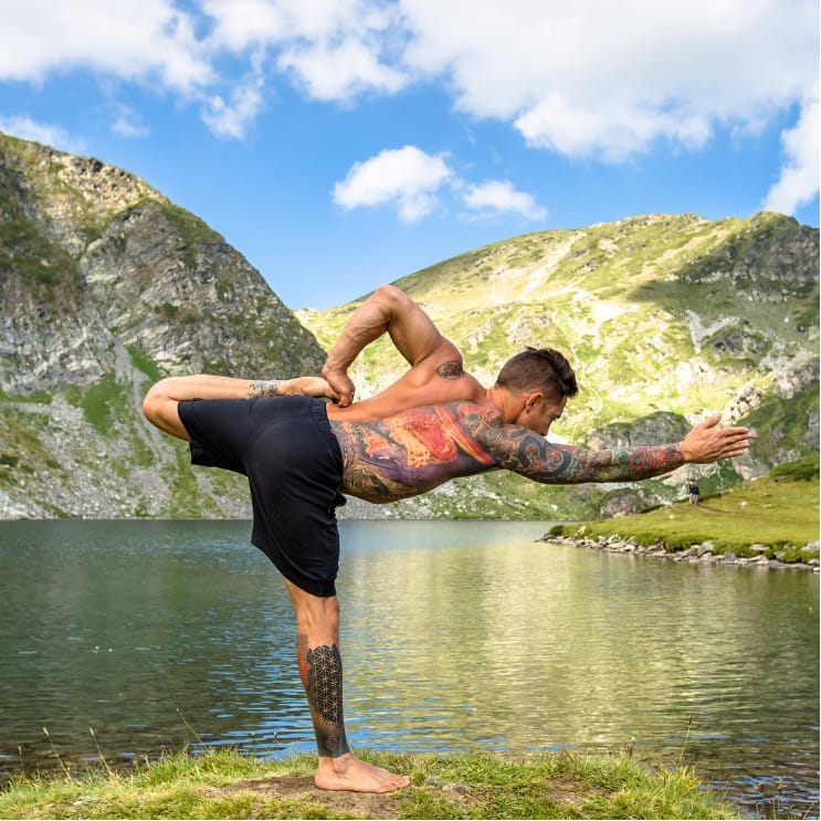 Jaw-Dropping Photos of Hot Tattooed Yoga Master Dylan Werner