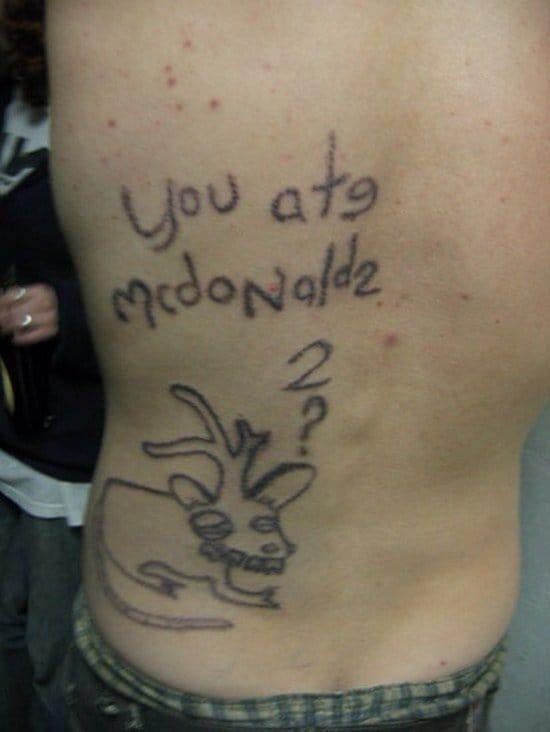 because yeah, I ate McDonaldz.