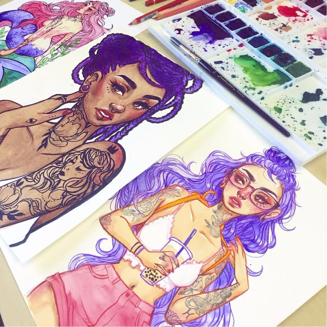 Fine Artists Take on Tattoos: Jacquelin Deleon