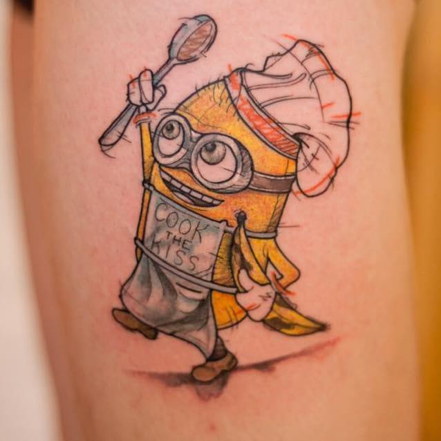 Geeky Watercolor Tattoos by Mathias Reichert