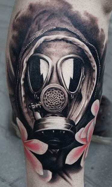 Rad gas mask tattoo by AD Pancho!