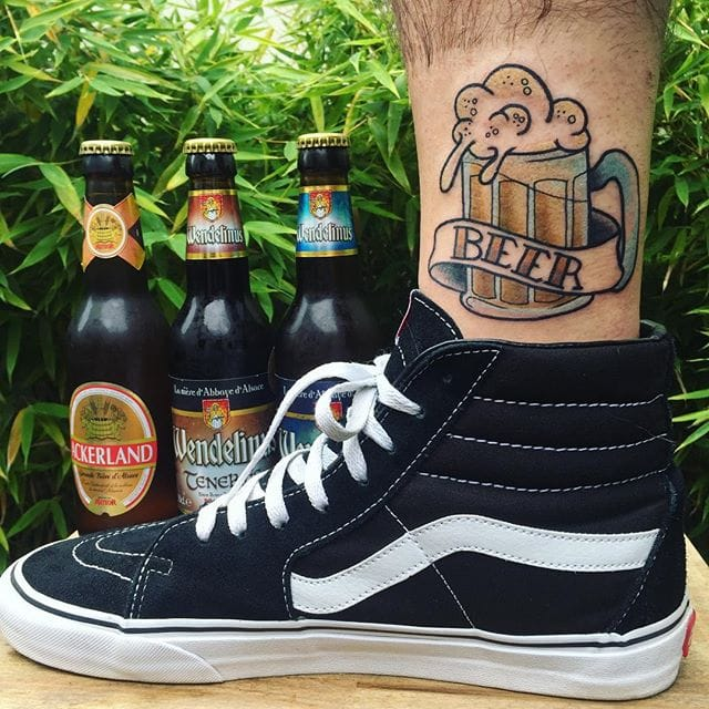 14 Beer Tattoos to Quench Your Thirst