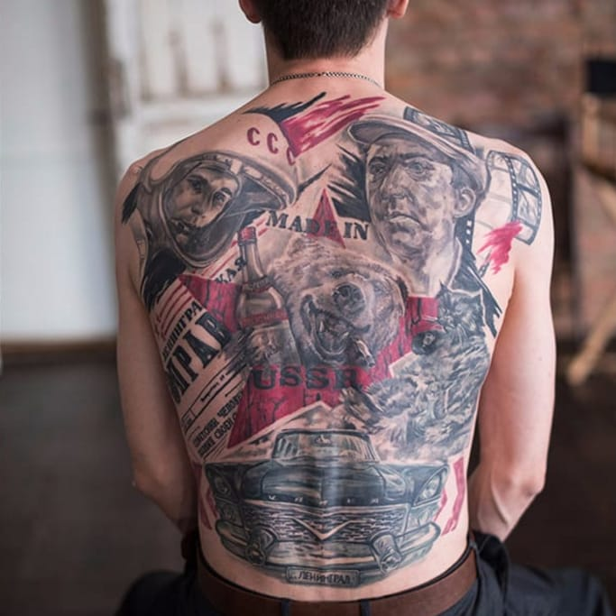 Tattooed Patriots and Their Tattoos Dedicated to Russia