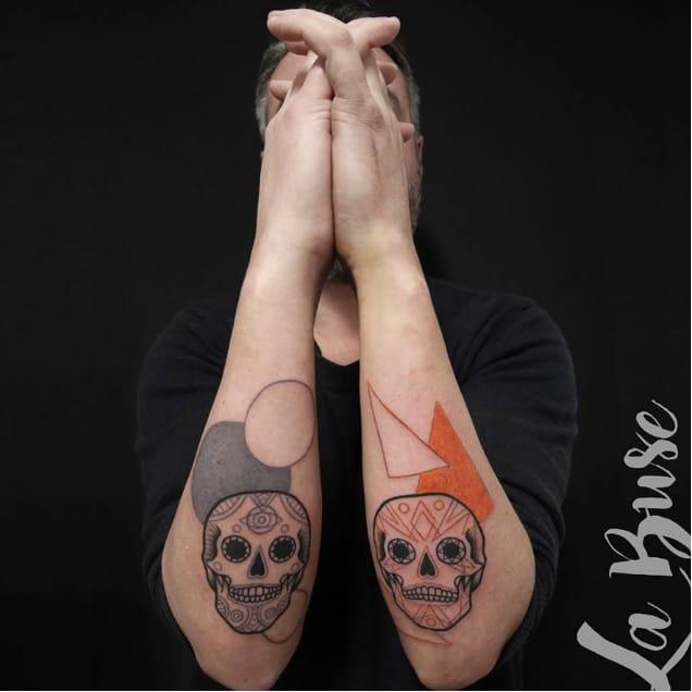 Offbeat Illustrative Tattoos by La Buse