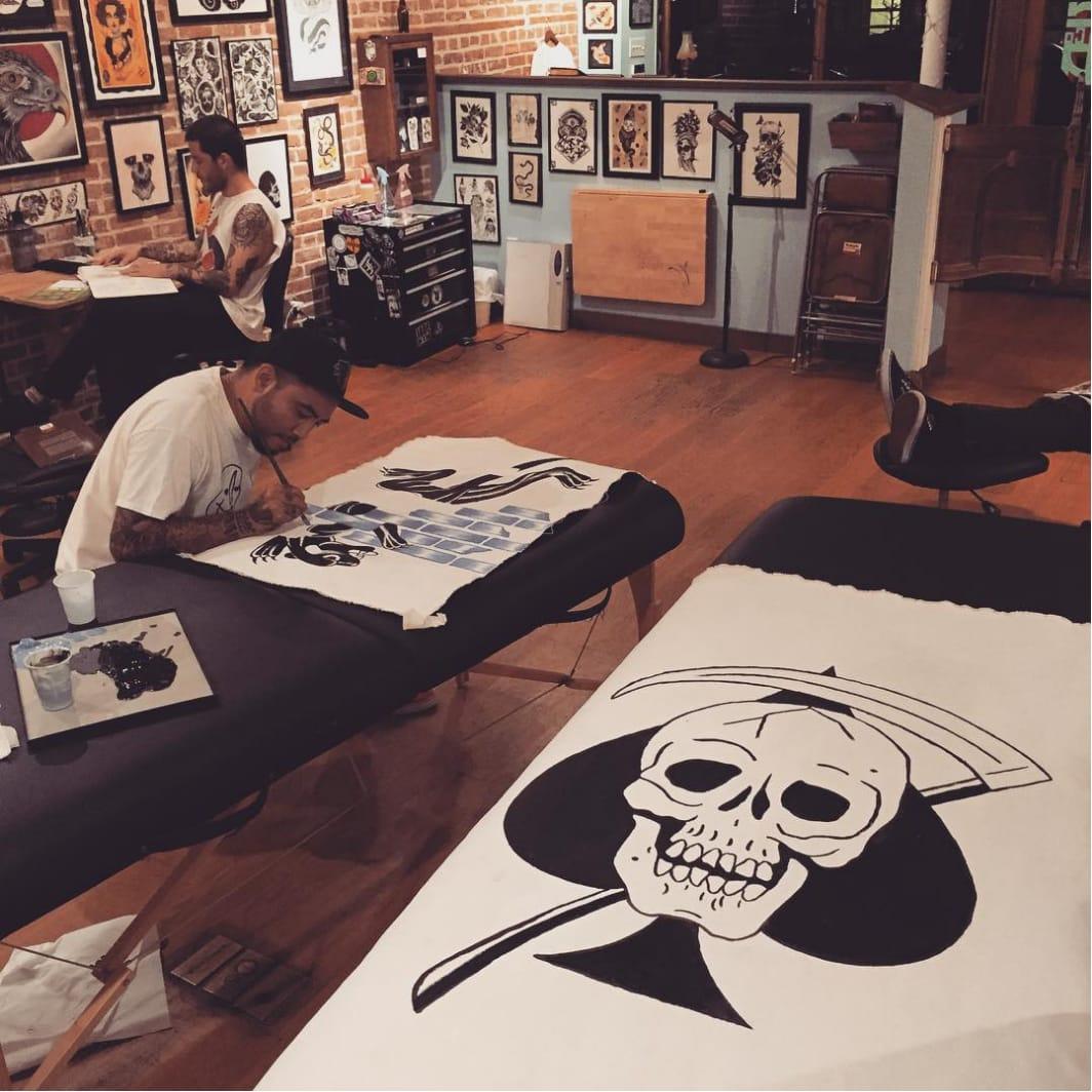 Awesome Death In Paradise Tattoos by Frankie Caraccioli
