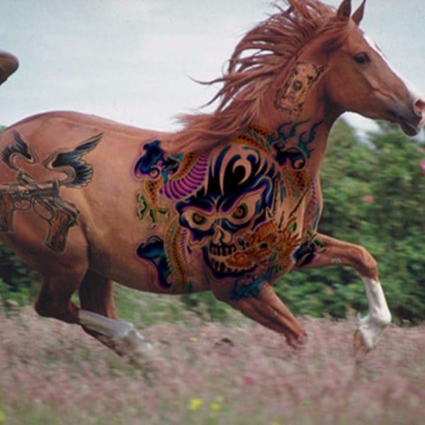 10 Powerful Watercolor Horse Tattoos