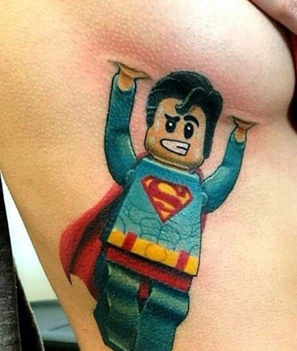 It's a bird! It's a plane! No, it's Superman and he's carrying boobies!!! (Artist Unknown)