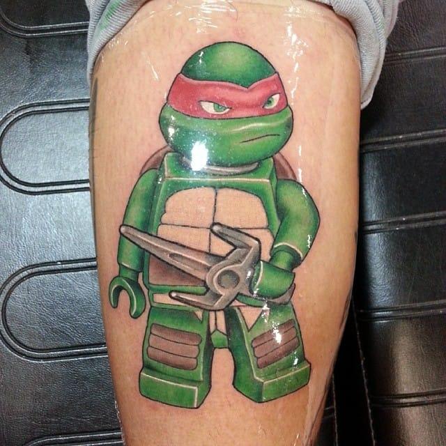 Teenage Mutant LEGO Turtle! Done by @skim_o.
