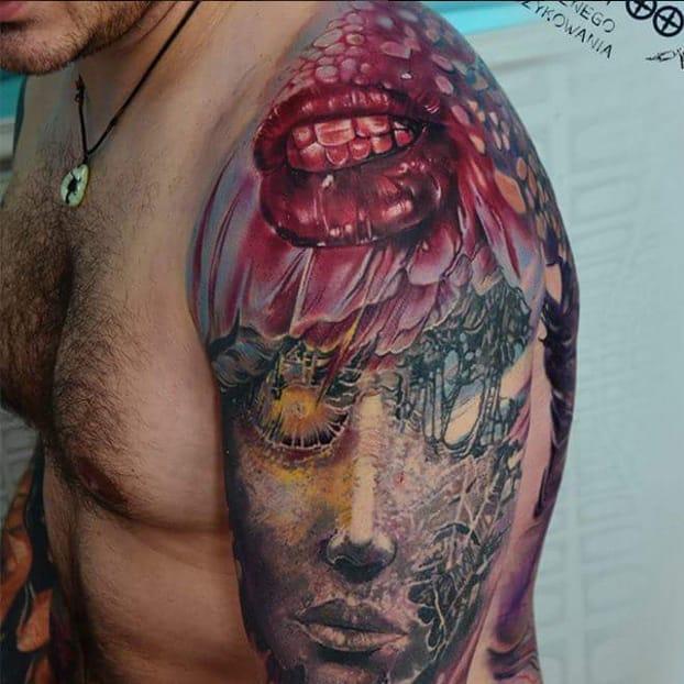 Mind-Blowing Realism Tattoos by Piotr Olejnik
