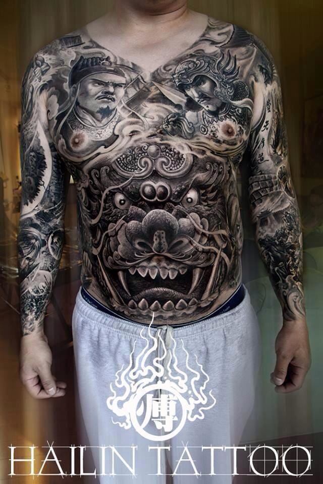 15 Impressive Foo Dog Tattoos