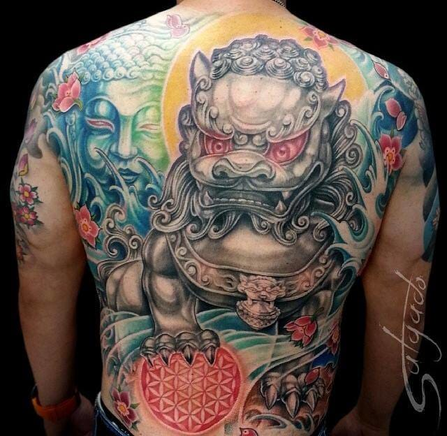 Awe-inspiring back tattoo by Juan Salgado!