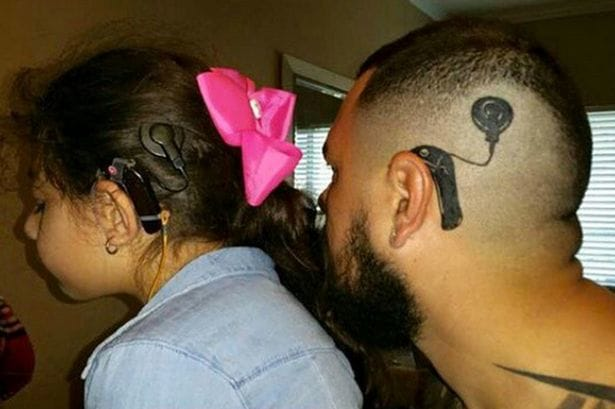 Awesome Dad Gets Tattoo So His Deaf Daughter Feels Normal