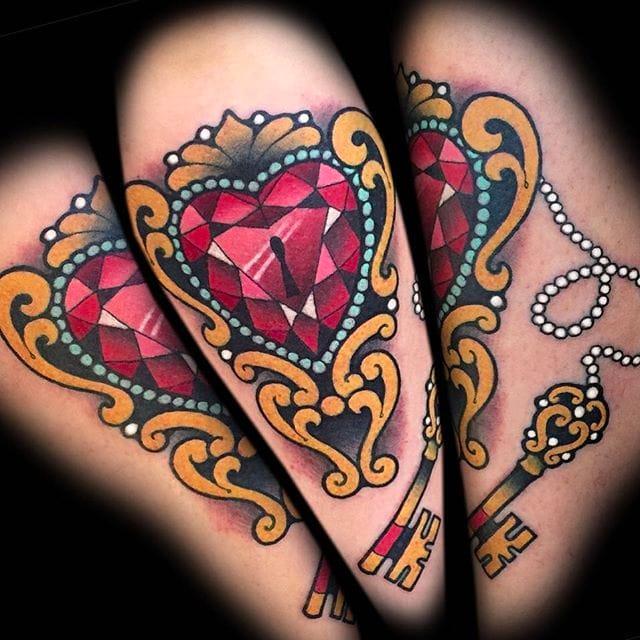 Art Noveau, Neo-Traditional Tattoos by Myra Brodsky