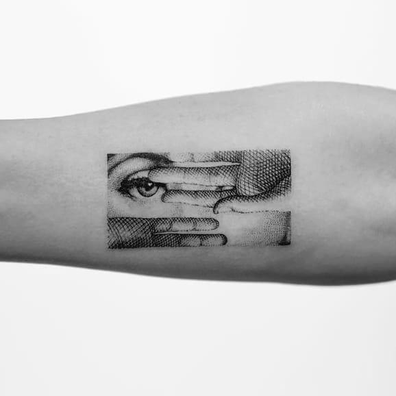 Teeny-Tiny Micro Tattoos by Mr. K
