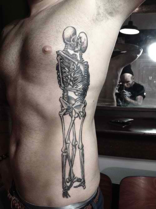 The pain is worth it, as this tattoo's sticking til death!