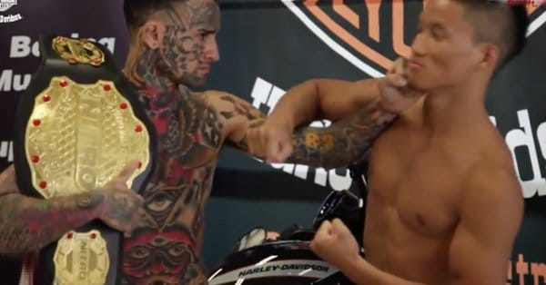 Cocky Tattooed MMA Fighter Gets Knocked The F*** Out!