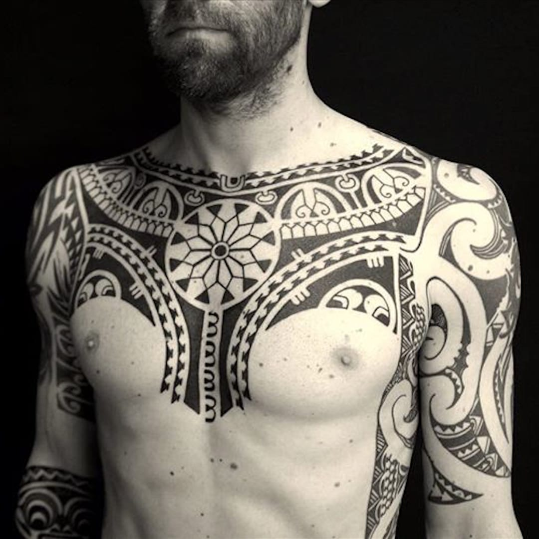 Polynesian-Style Tattoos From Russia by Dmitry Babakhin