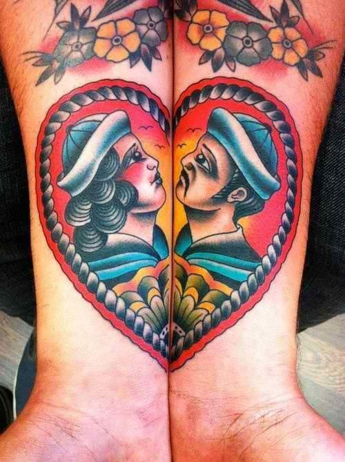 Lovers & Soulmates to Eternity! Beautiful matching tattoo by Samuele Briganti.