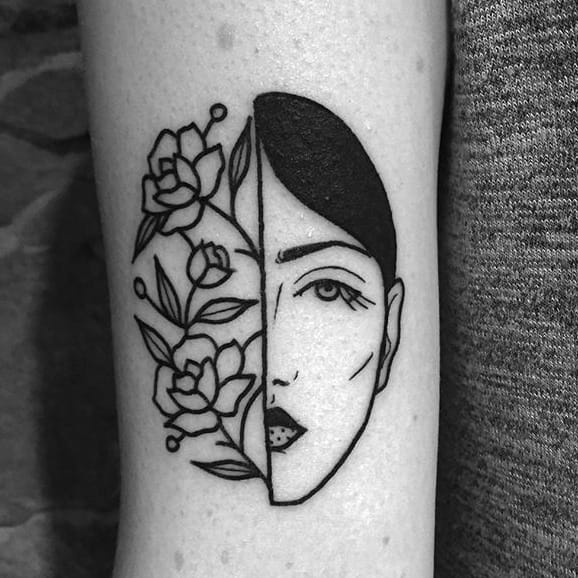 Allow Lydia Marier to Wow You With Her Simple Black Ink Tattoos