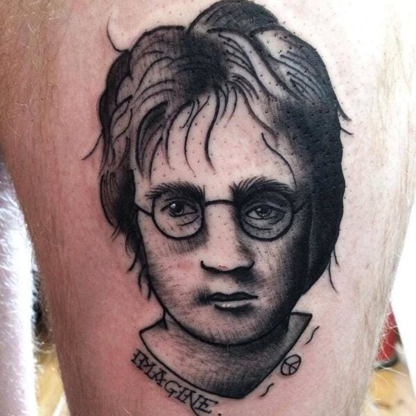 """Imagine all the wizards..."" - John Lennon/Harry Potter Portrait"