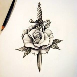Love the simplicity of this sketch-I'd get this tattooed just as it is.