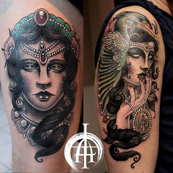 Arron Townsend's Divine Neo Traditional Lady Heads