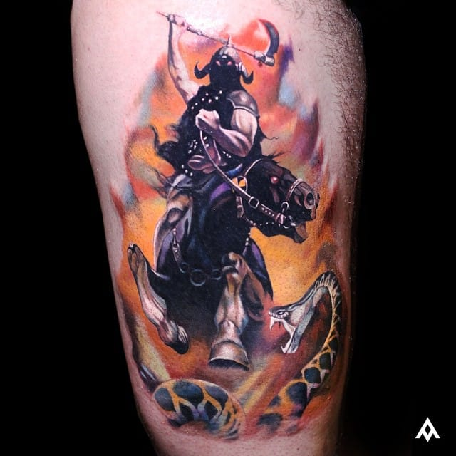 Epic tattoo by realism master Luka Lajoie (Canada)...