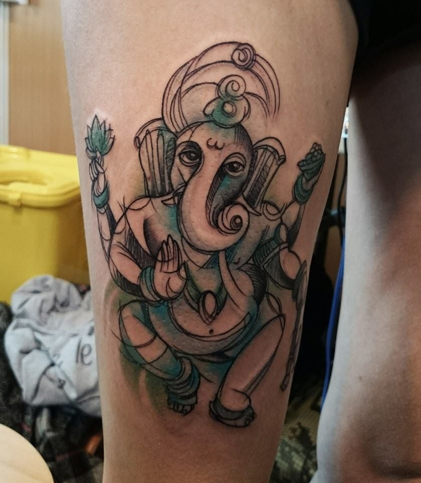 Graphic Ganesh by Matteo Cascetti (Italy).