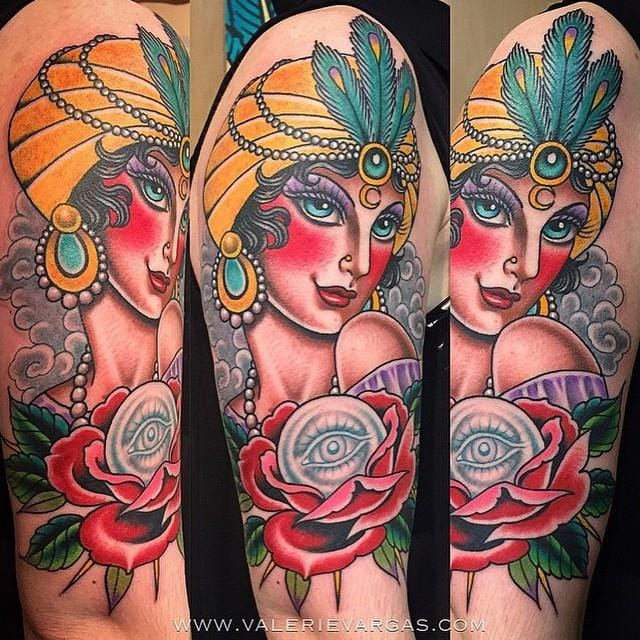 The coveted neo traditional work of Valerie Vargas (UK).