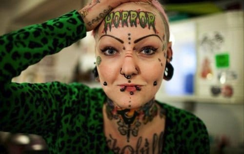 Getting a forehead tattoo is like wearing a statement.