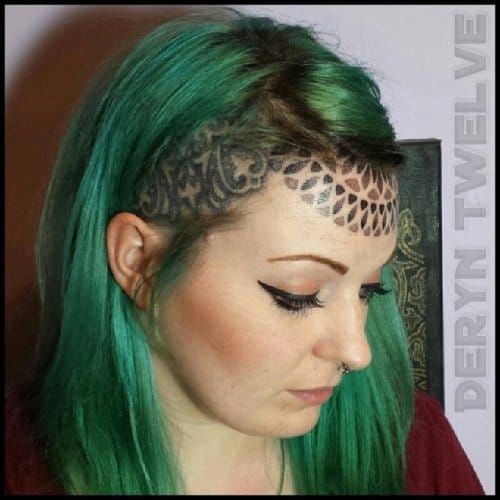 Getting a forehead tattoo is like wearing a crown. Wear it with power and confidence!