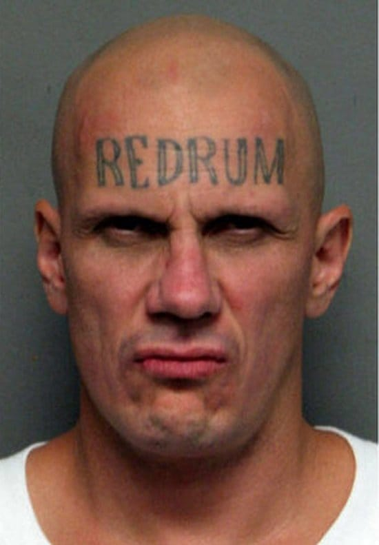 Would you believe this photo was actually a mugshot?! Creepy guy. I can clearly tell what's on his mind.