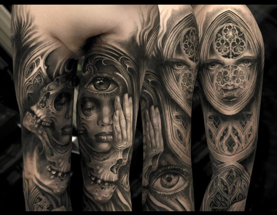 15 majestic gothic cathedral tattoos tattoodo for Anthony french tattoo