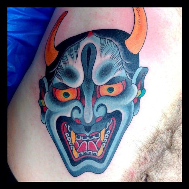#japanese #hannya #tattoo #mikerubendall #kingsavenue