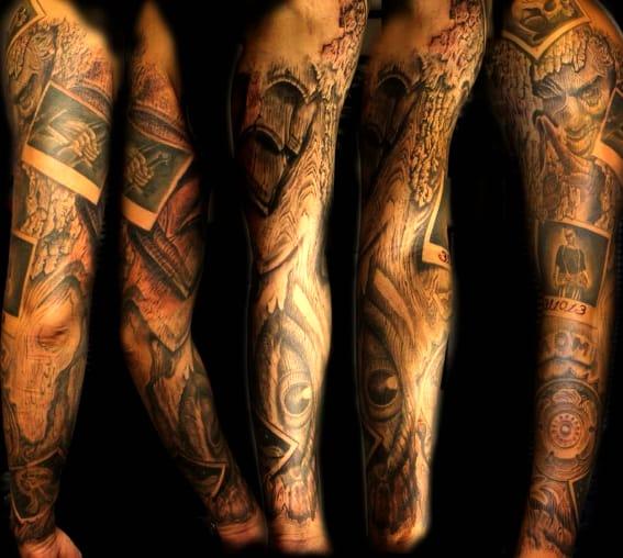 Photo Sleeve tattoo