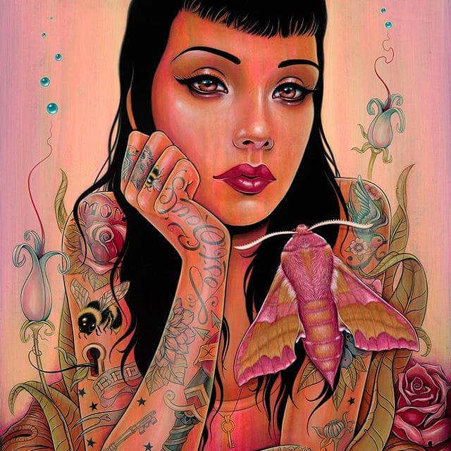 #ARTSHARE: The Pop Surrealistic Tattooed Babes of Caia Koopman