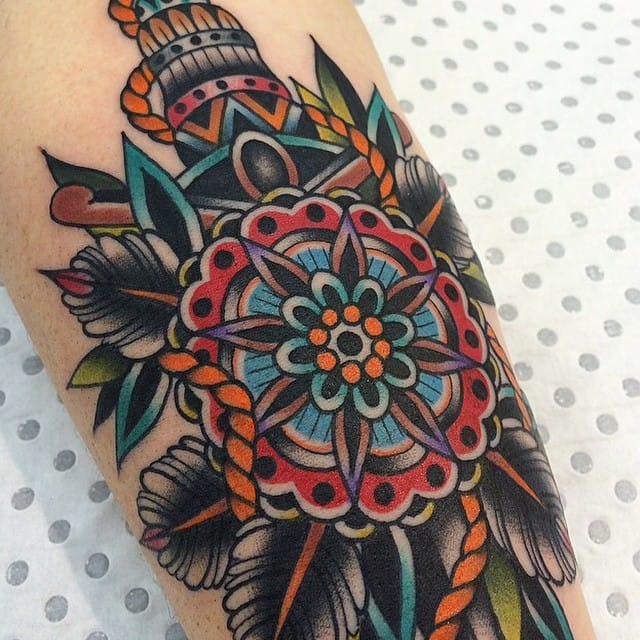 #traditional #dagger #geometricflower #kirkjones