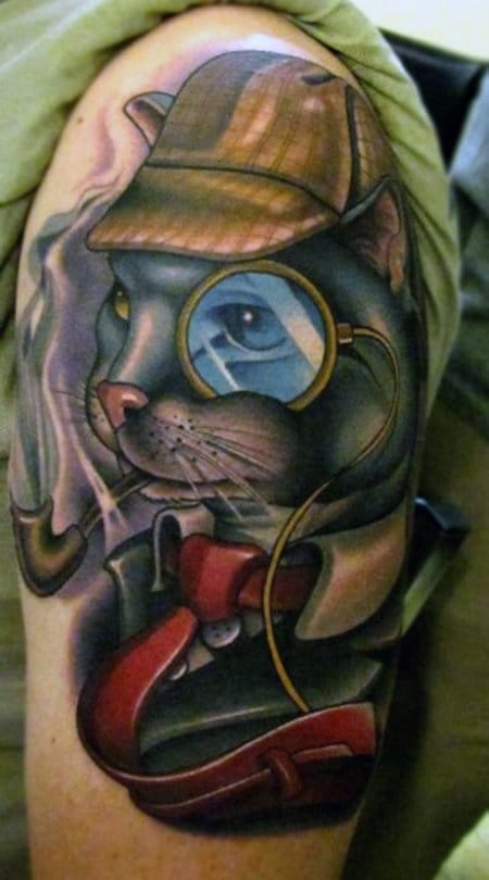 Sherlock Holmes as a cat by Timmy B.